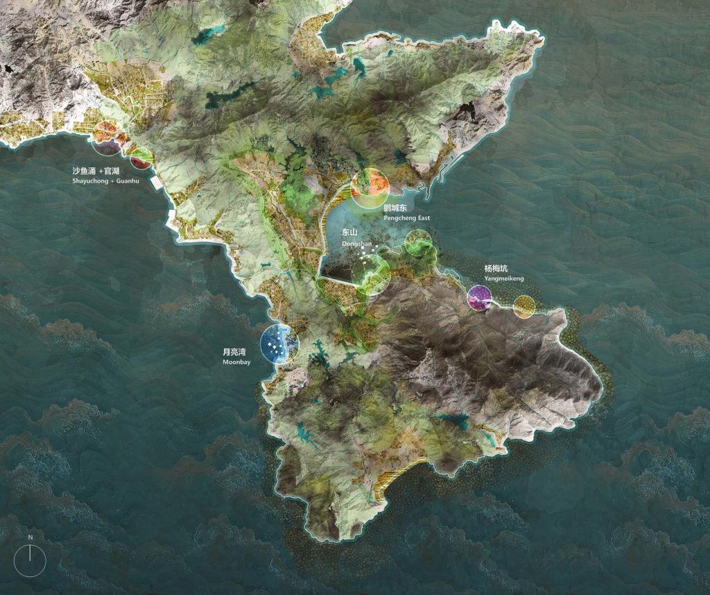 Triple Dike Strategy voor oostkust Shenzhen Bay China. Beeld KCAP en FELIXX
