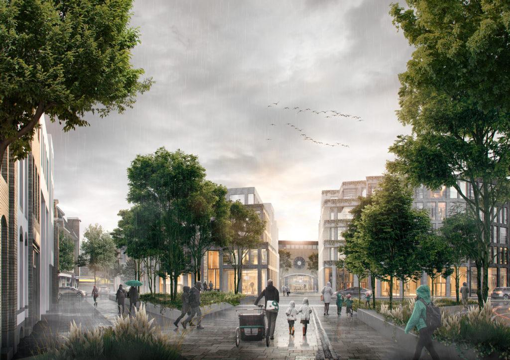 Stedenbouwkundig plan voor Stationsgebied Hilversum, ontwerp De Zwarte Hond en OKRA