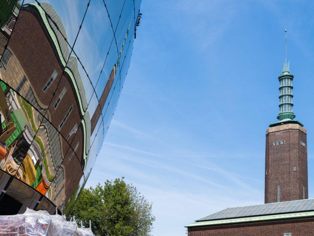 Hoogste punt bouw Depot Boijmans Rotterdam door MVRDV