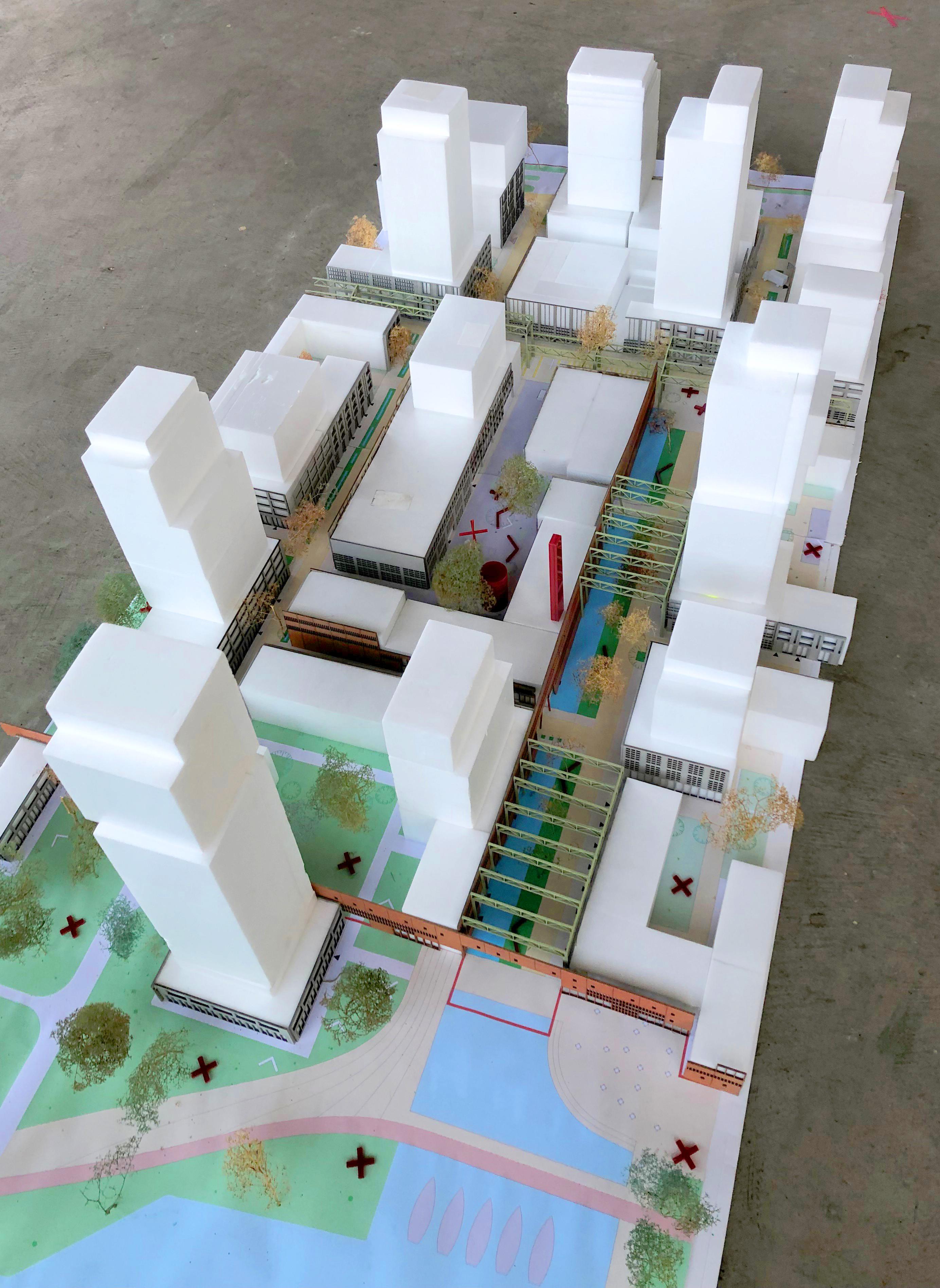 <p>Stedenbouwkundige voorbeelduitwerking in maquette</p>