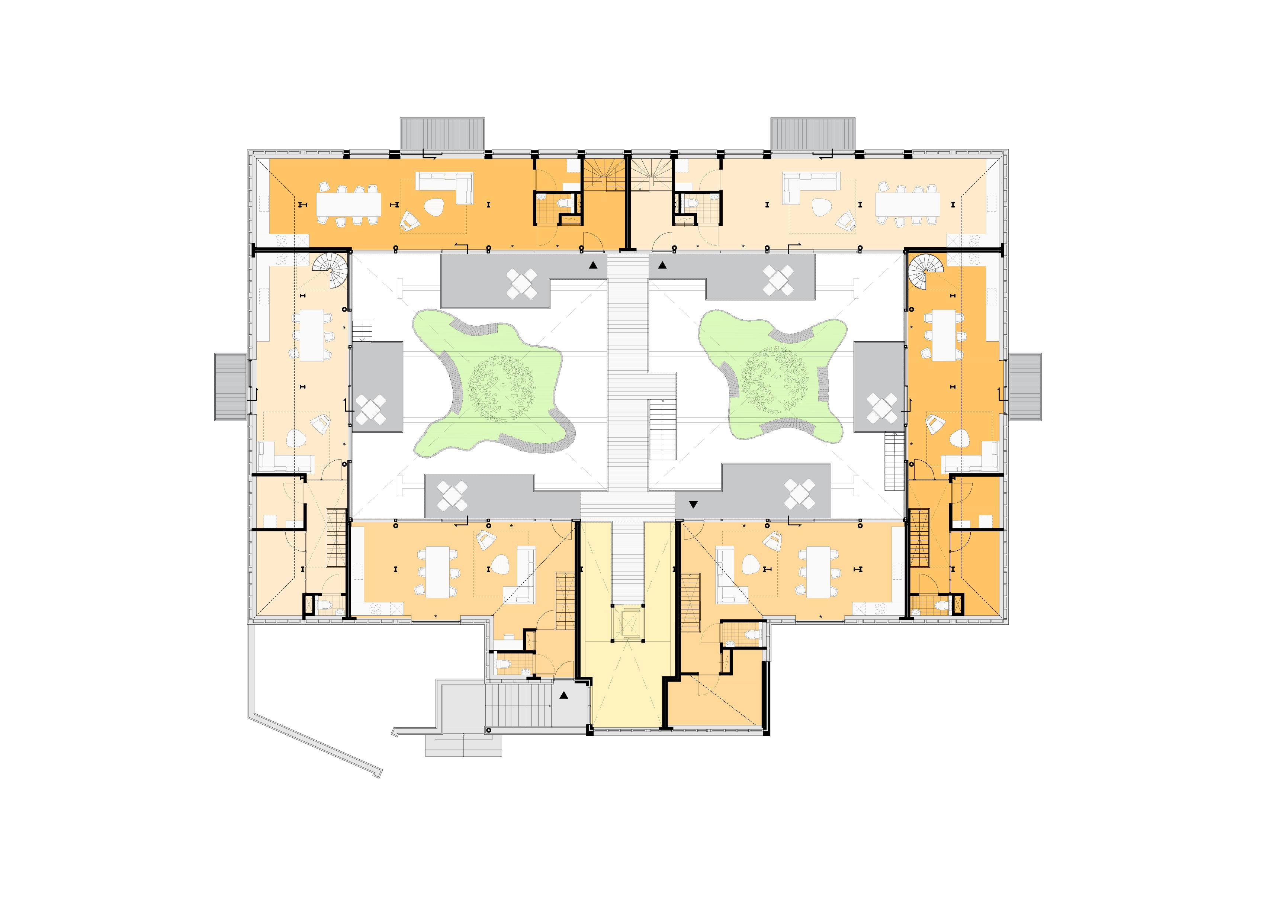 <p>Plattegrond eerste verdieping Spaardersbad</p>
