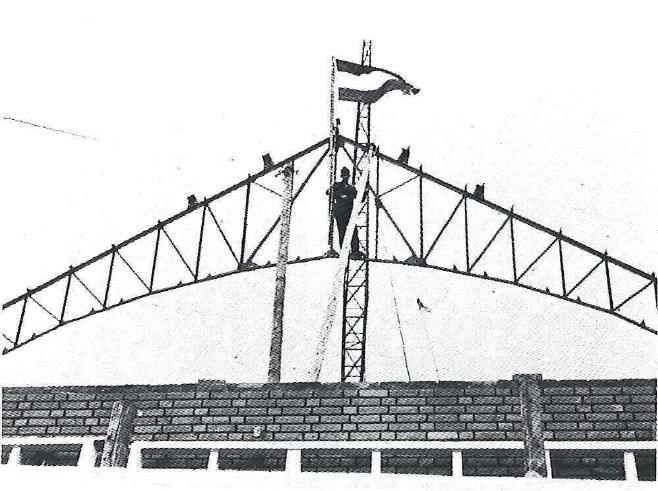 <p>Historische foto hoogste punt bouw 12-10-1938</p>