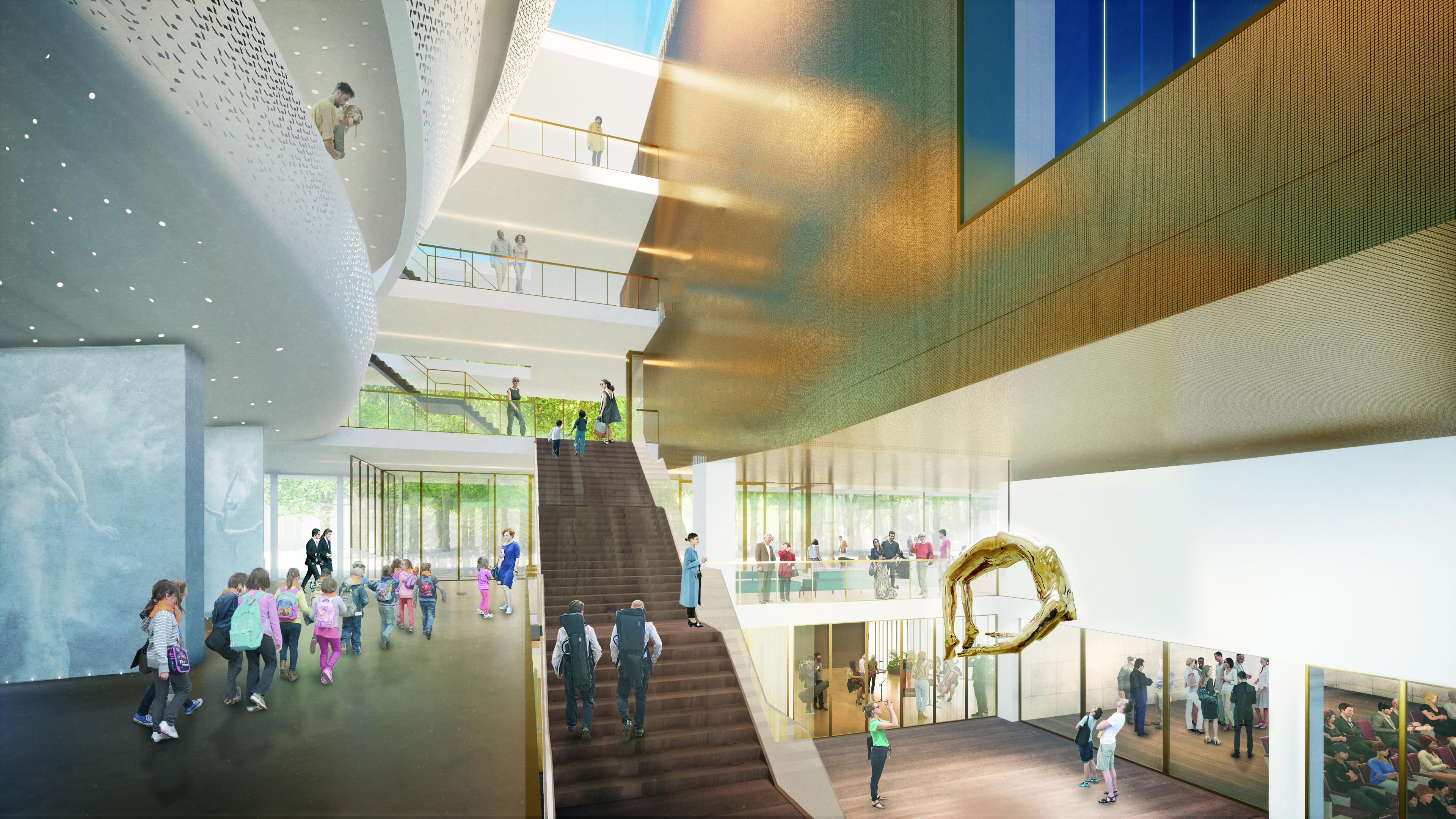 <p>Interieur begane grond foyer. Theater aan de Parade door NOAHH | Network Oriented Architecture</p>