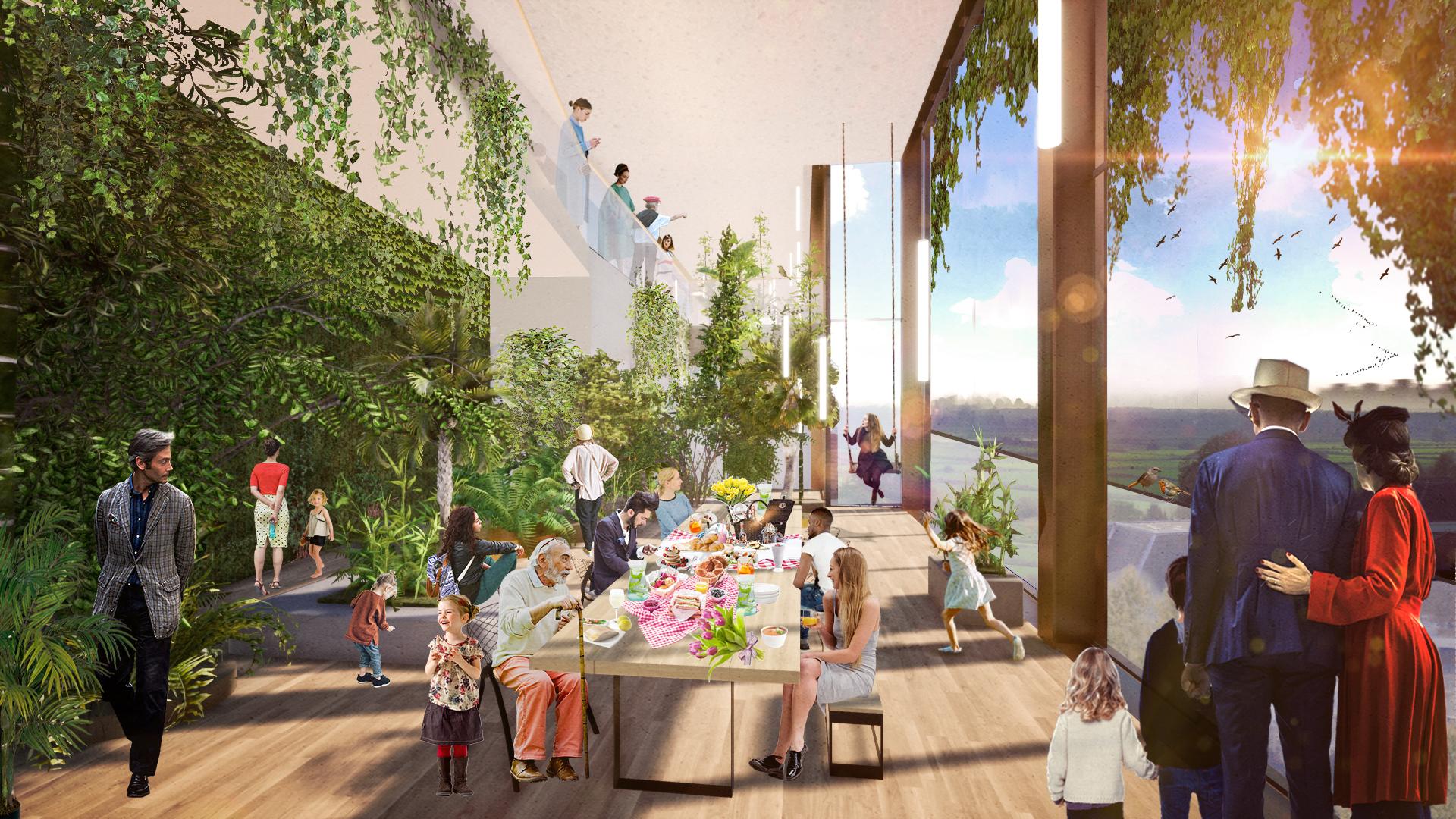 <p>Interieur botanis-foyer. Theater aan de Parade door NOAHH | Network Oriented Architecture</p>
