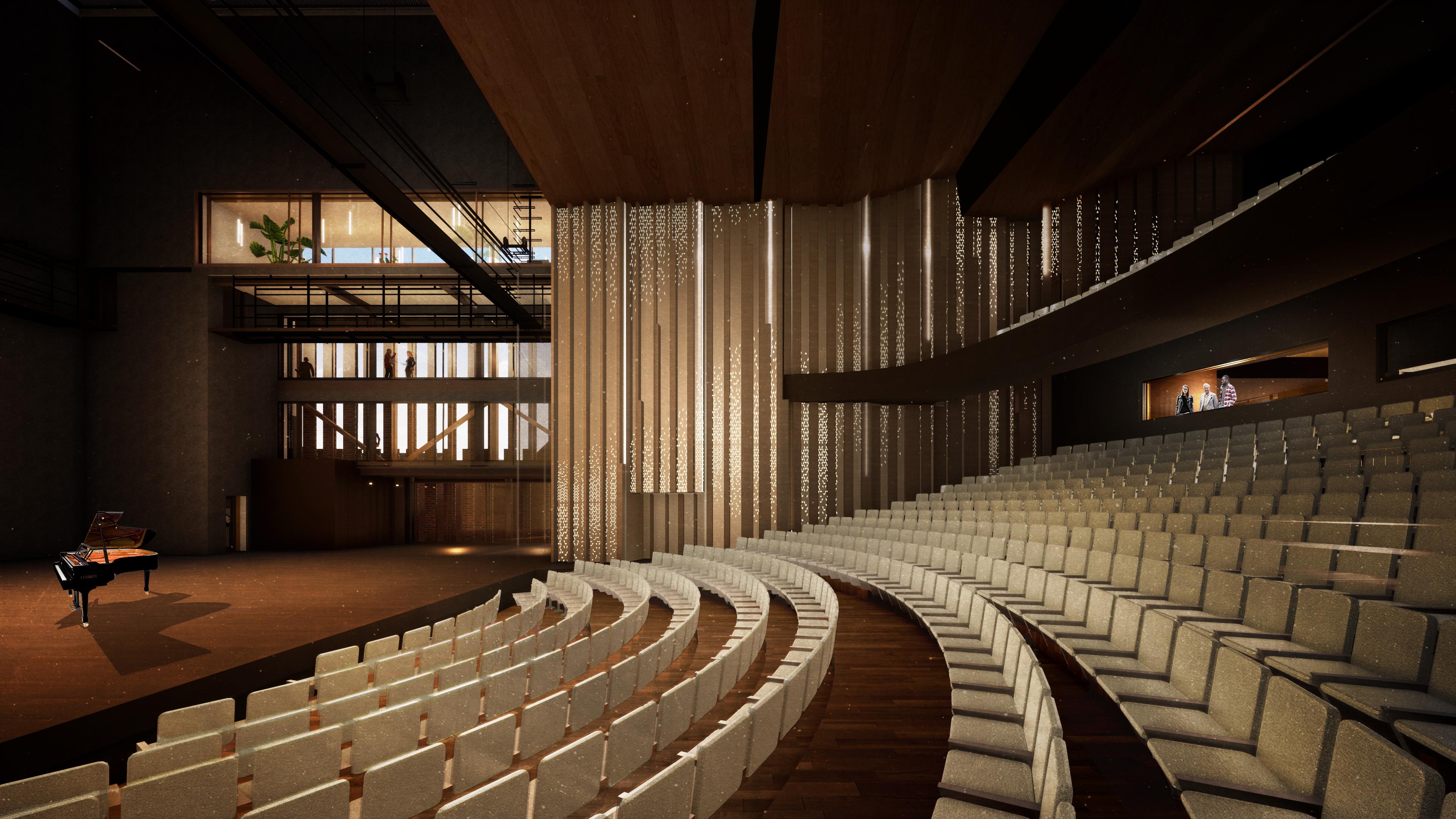 <p>Interieur Grote Zaal, podium en parterre. Theater aan de Parade door NOAHH | Network Oriented Architecture</p>
