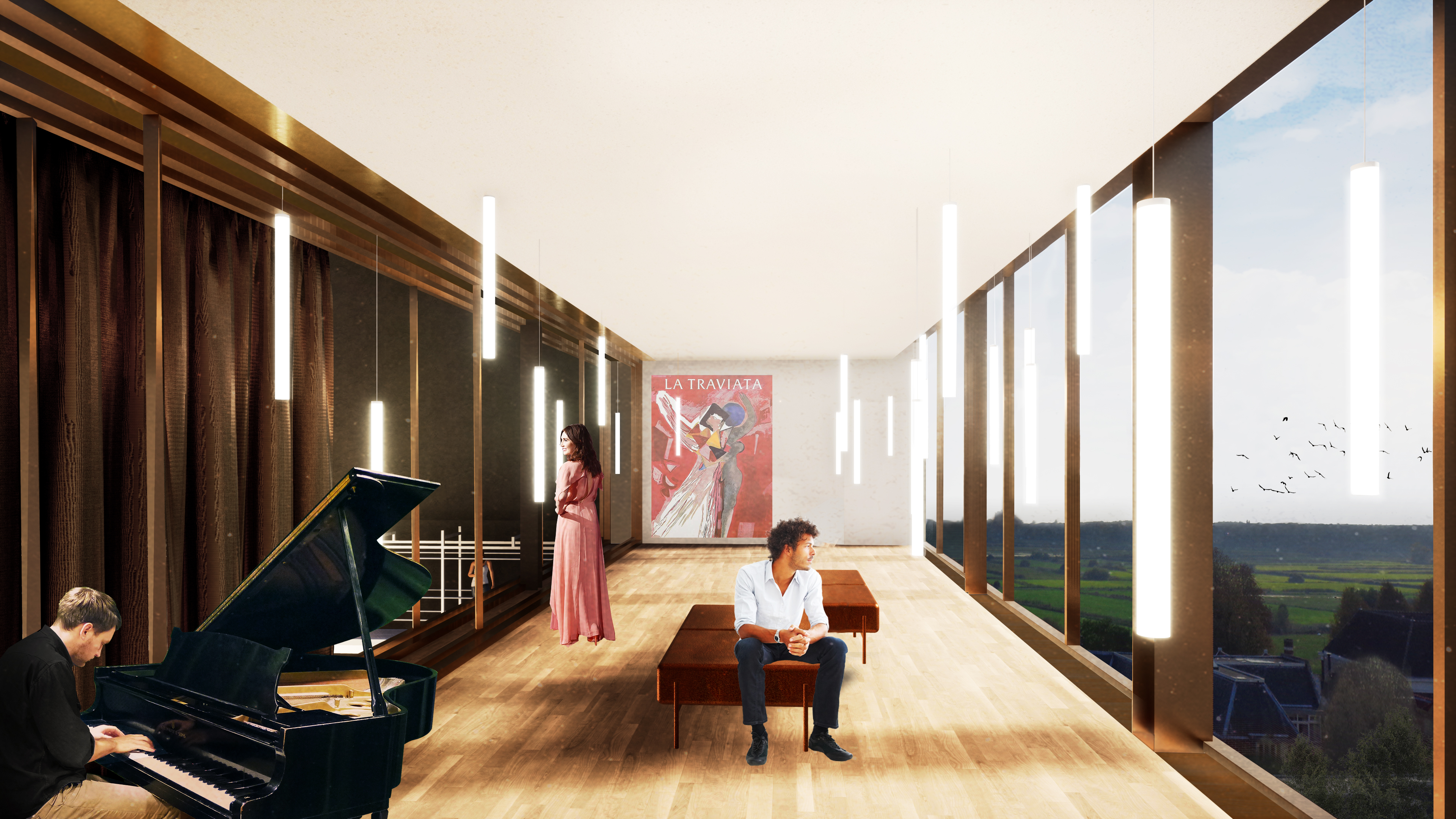 <p>Interieur VIP-ruimte. Theater aan de Parade door NOAHH | Network Oriented Architecture</p>