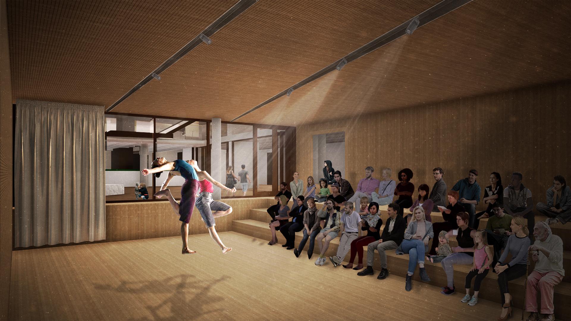 <p>Interieur auditorium. Theater aan de Parade door NOAHH | Network Oriented Architecture</p>