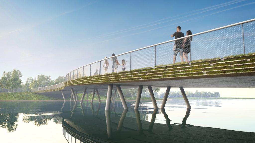 Beverbrug Floriadeterrein Almere. Beeld Reimert Bouw en Infrastructuur