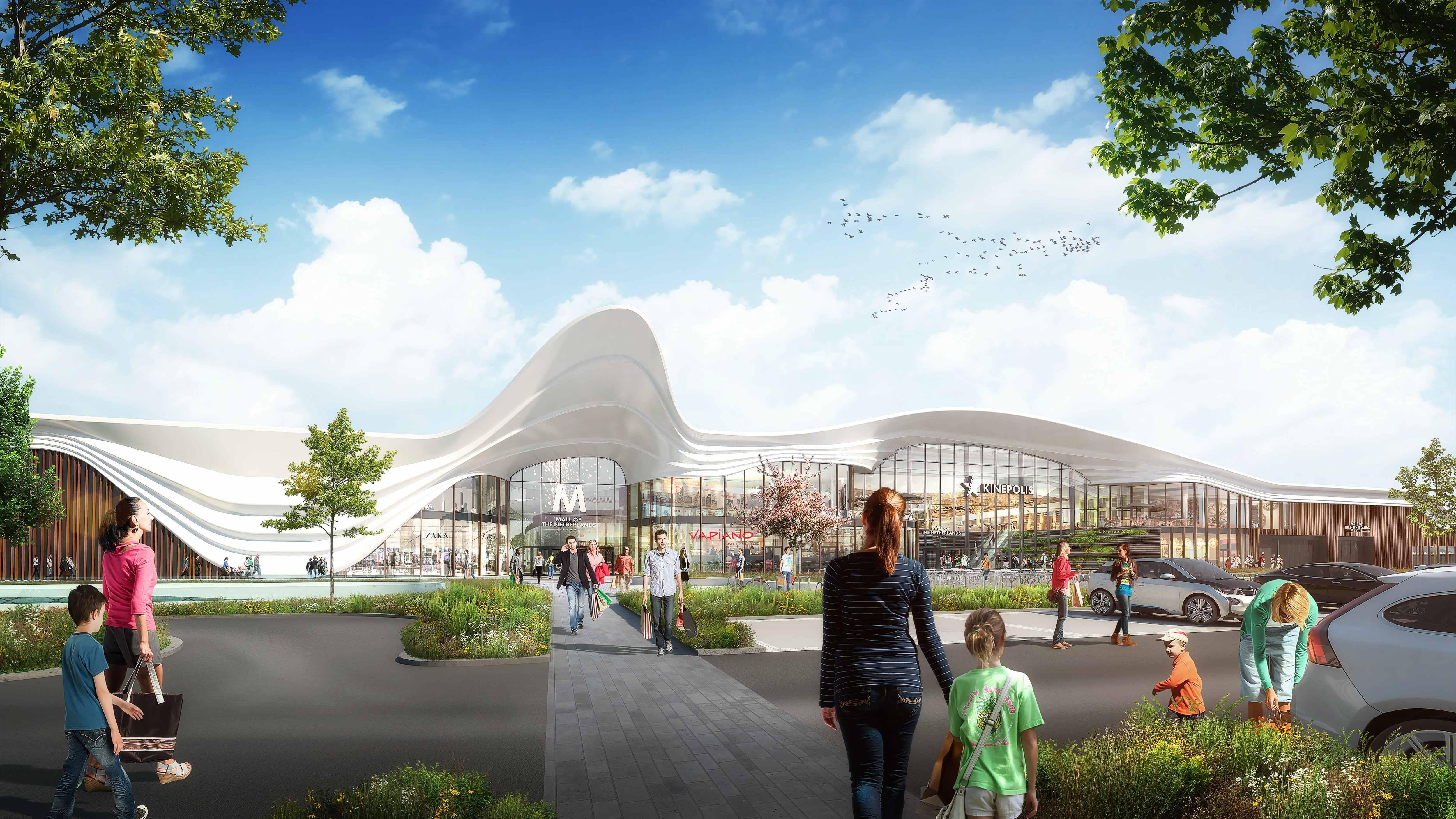 <p>Renderafbeelding Westfield Mall of the Netherlands (Unibail Rodamce/Zwartlicht).</p>