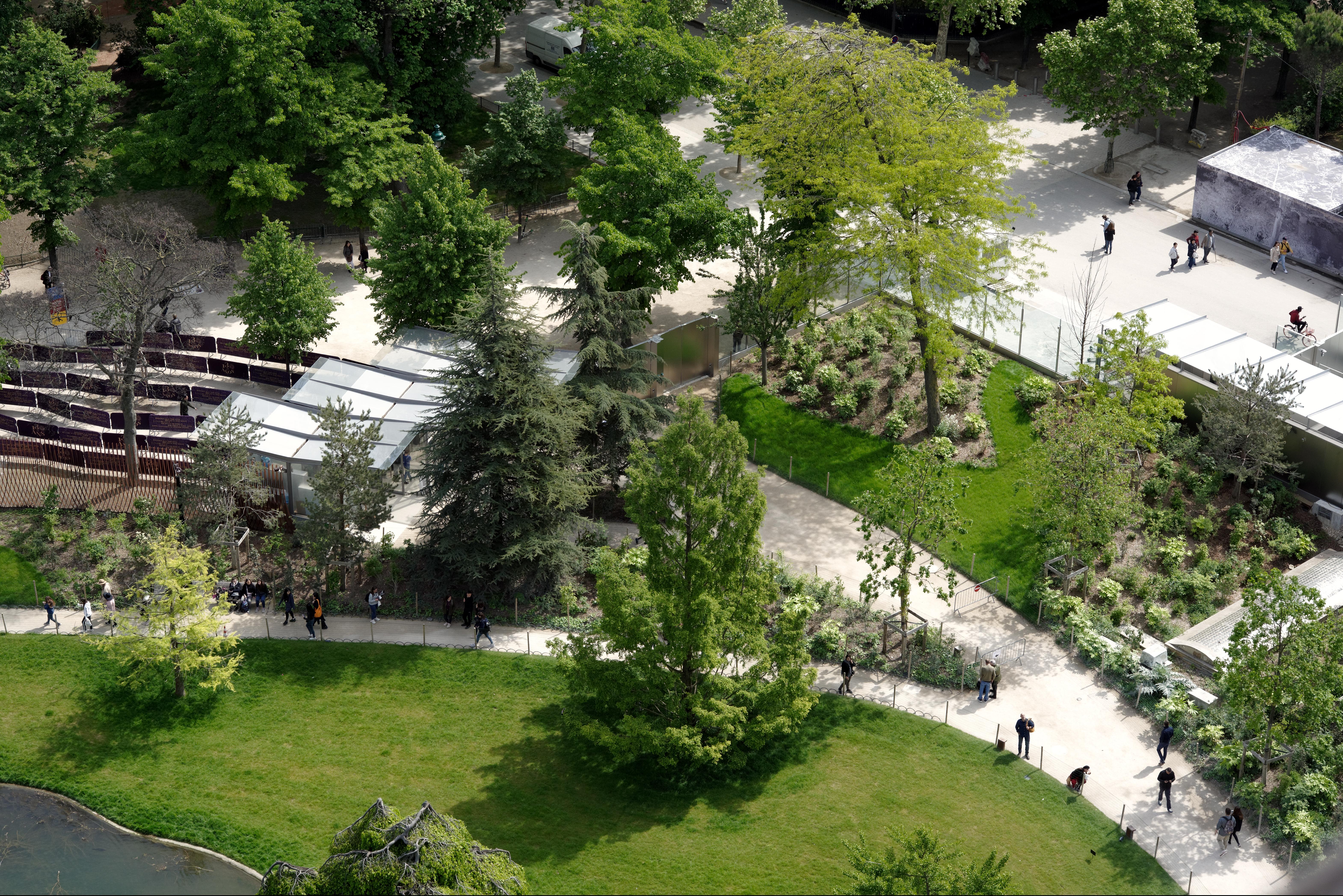 <p>Zicht op de tuin. Beeld David Boureau</p>