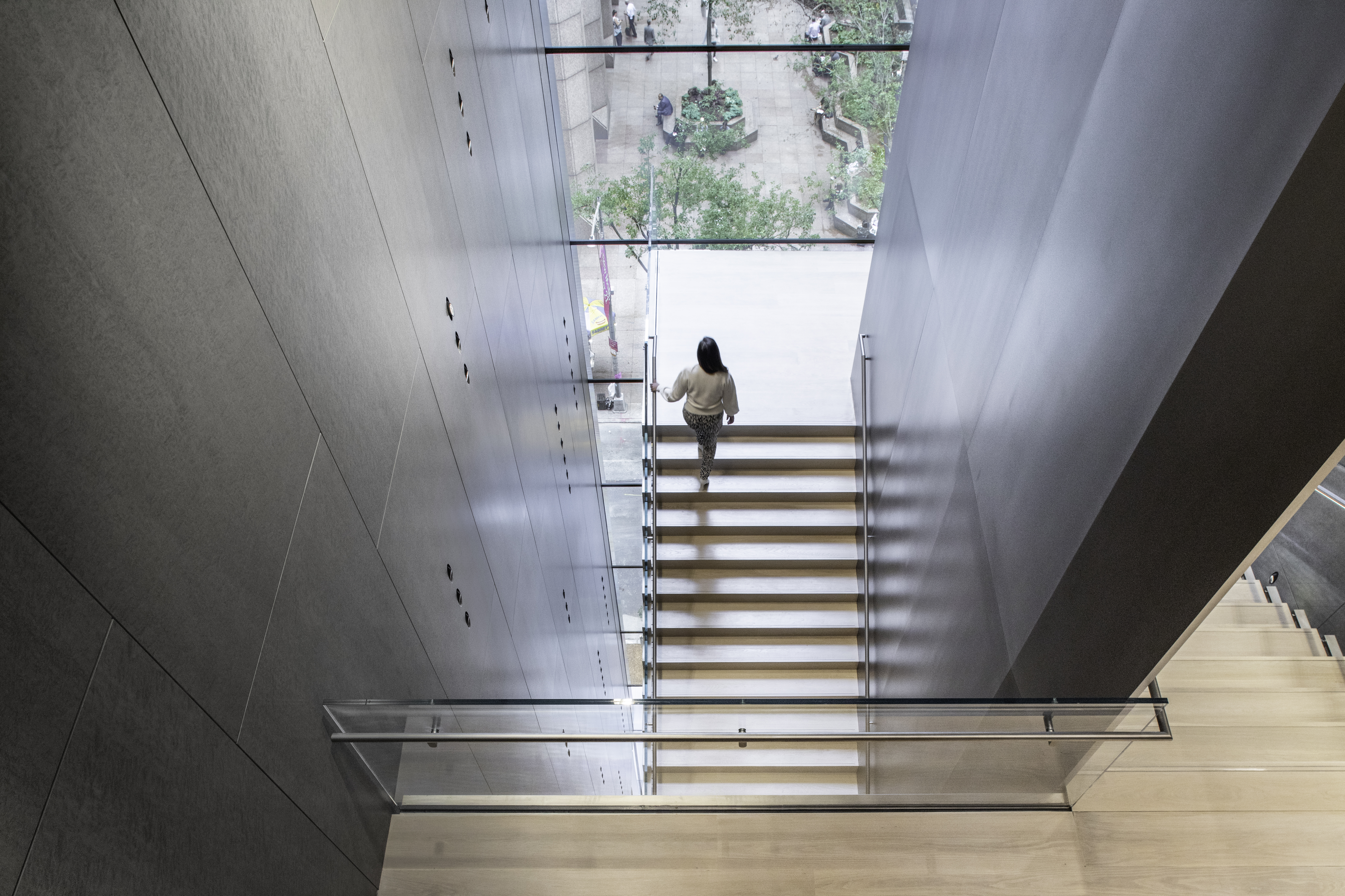 <p>MoMa Fase 2. Blade Stair, View from Level 6 Beeld Brett Beyer. Courtesey of Diller Scofidio + Renfro</p>