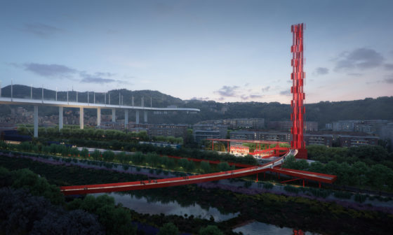 Stefano Boeri Architetti, Metrogramma Milano en Inside Outside winnen competitie Parco del Ponte Genua