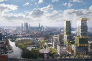 B-PROUD wordt 140 meter hoge verticale stad in Den Haag