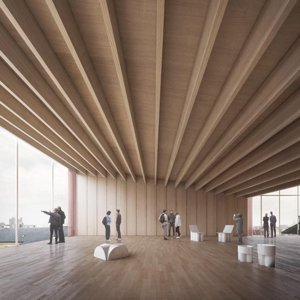 Een toekomstbeeld van de Loft met panorama.-Beeld ©TRANS, Carmody Groarke en RE-ST