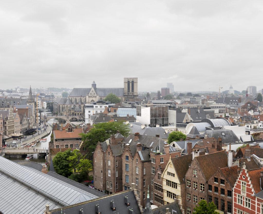 Een toekomstbeeld van de 'Loft', met panorama. Beeld ©TRANS, Carmody Groarke en RE-ST