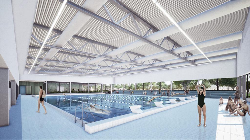 Zwembad Veldhoven door NOAHH - Beeld © NOAHH | Network Oriented Architecture
