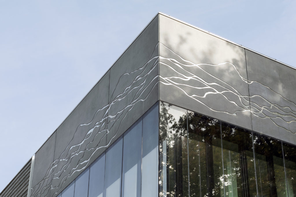 Opening Earth Simulation Laboratory door Barcode Architects