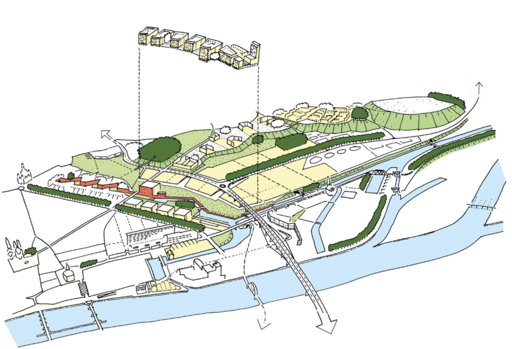 Palmbout Urban Landscapes, Masterplan Belvédère Maastricht, 2004 wint ARC19 Stedenbouw Award