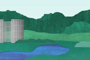 Installatie Stacked Structures Bissegem – Studio Verter i.s.m. Bram Vanderbeke