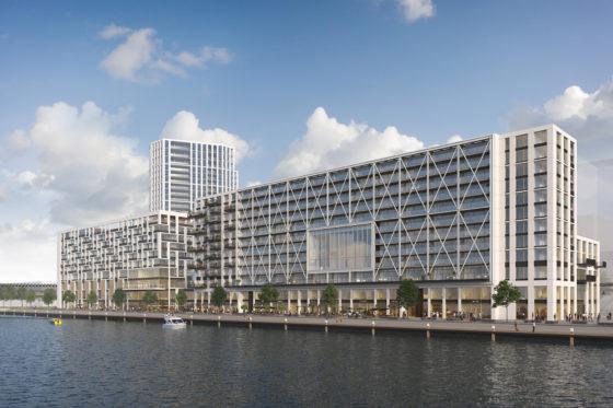 Hotel en appartementengebouw voor Rijnhavendistrict Rotterdam