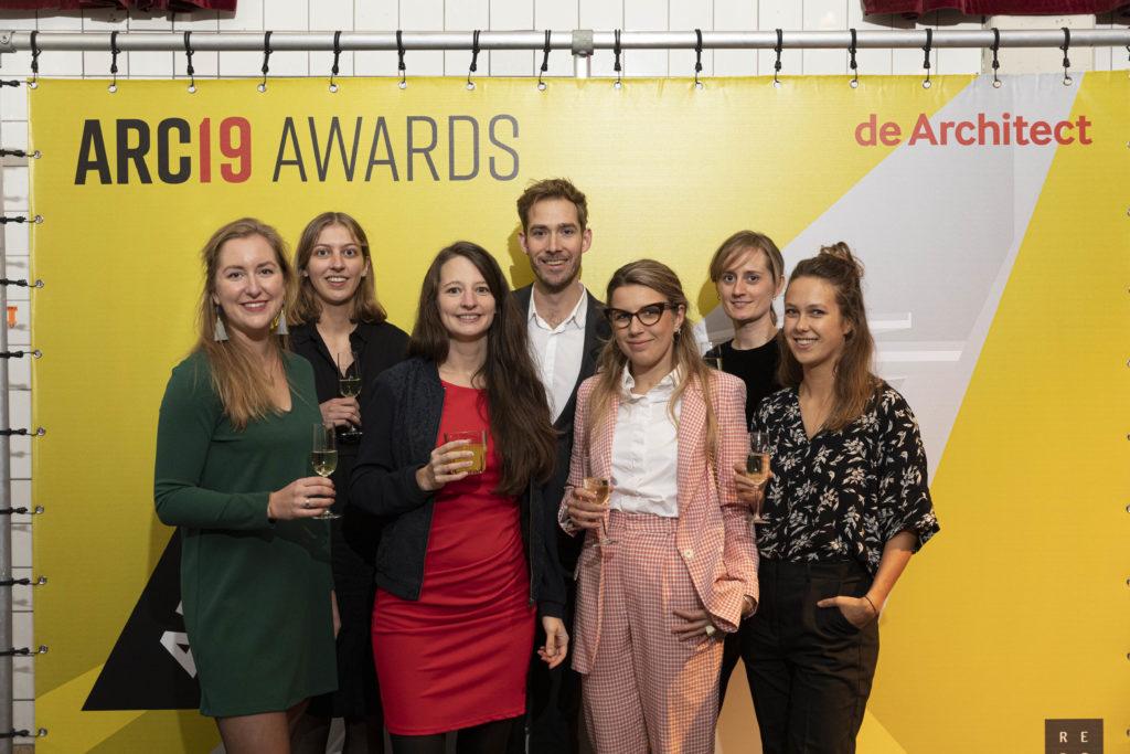 Het team van ArchitectuurMAKEN. Beeld J.W. Kaldenbach Feestavond ARC19 Awards