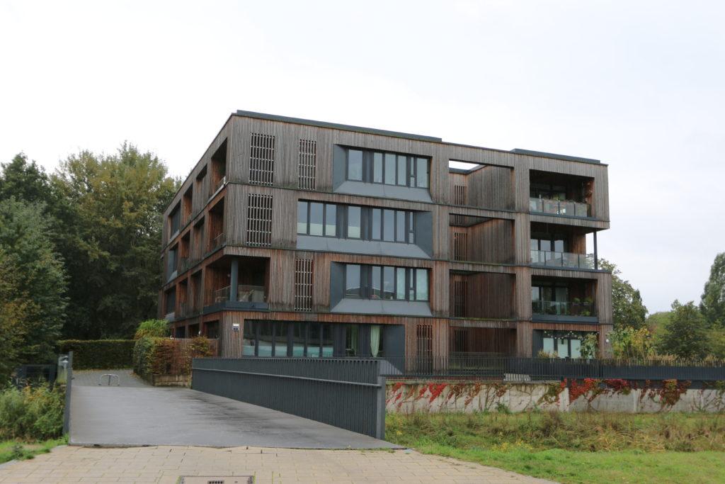 Architectuurreis Hamburg: IBA Hamburg Hybride Erschließung door Bieling Architekten. Beeld Marieke Hoff