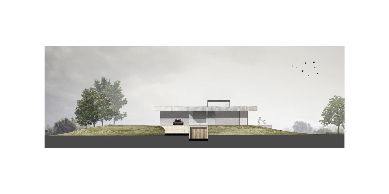 <p>Zuidgevel House H in Mount Brydges (Canada) door Chris Collaris Architects</p>