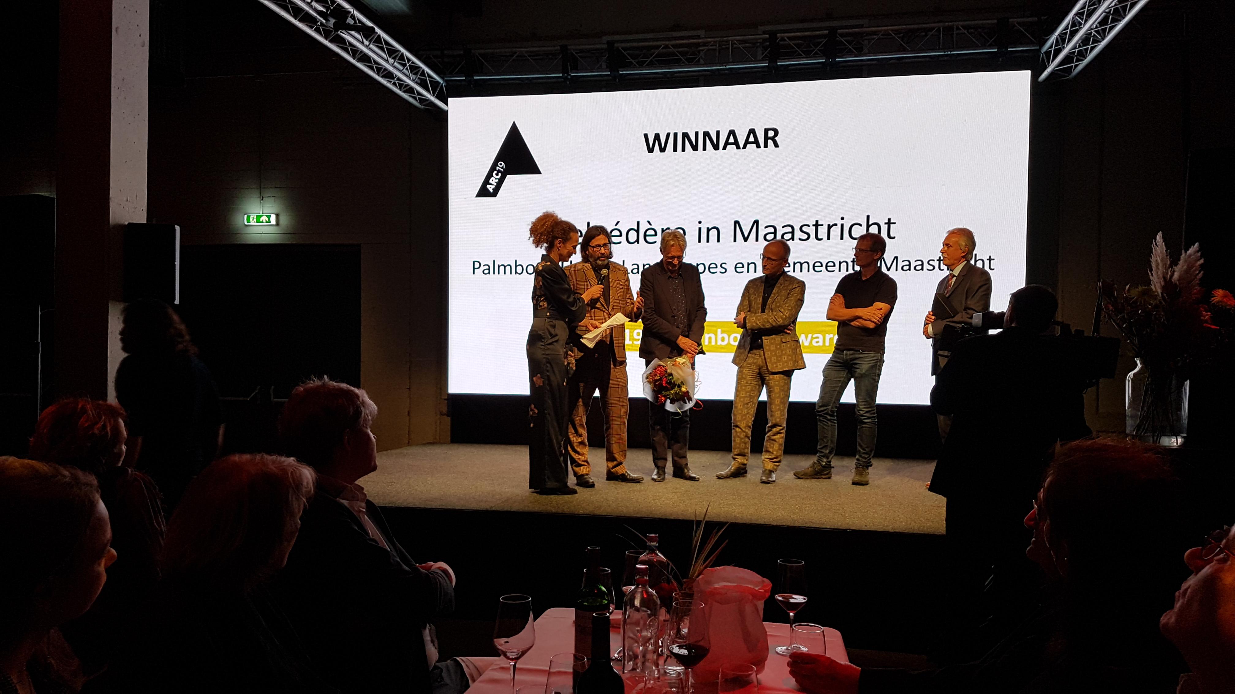 <p>Belvédère Maastricht door Palmbout en gemeente Maastricht is de winnaar van de eerste ARC19 Stedenbouw Award</p>
