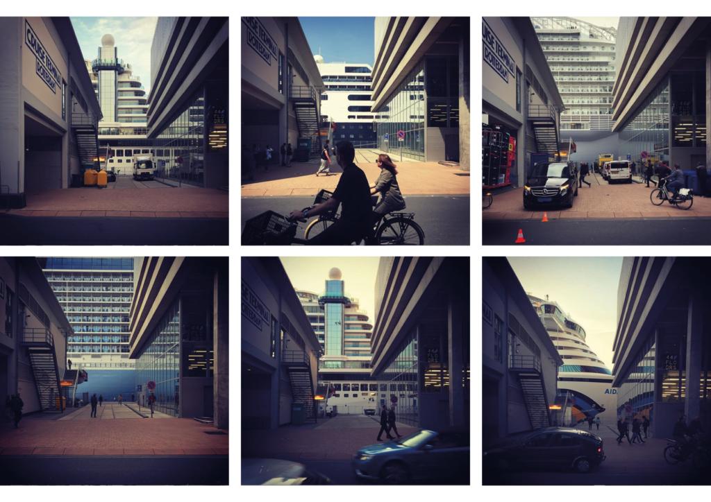 Steeg tussen De Rotterdam en de Cruiseterminal. Beeld Robbert Guis