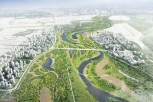 Landschapsontwerp Jinghe Rivier, China – NL Urban Solutions