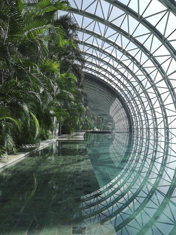 <p>Interieur van The Crystal, de horizontale toren waarin tuinen, restaurants, bars, clubhuizen, zwembaden en lobby's zijn ondergebracht. Vanuit het<br /> observatorium heb je als bezoeker onbelemmerd uitzicht op de omgeving Beeld Safdie Architects</p>