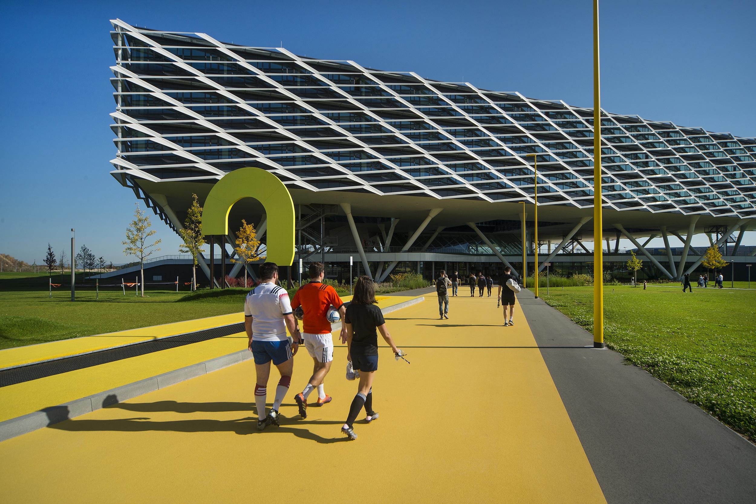 <p>Yellow Start Trampoline. Beeld Hanns Joosten</p>