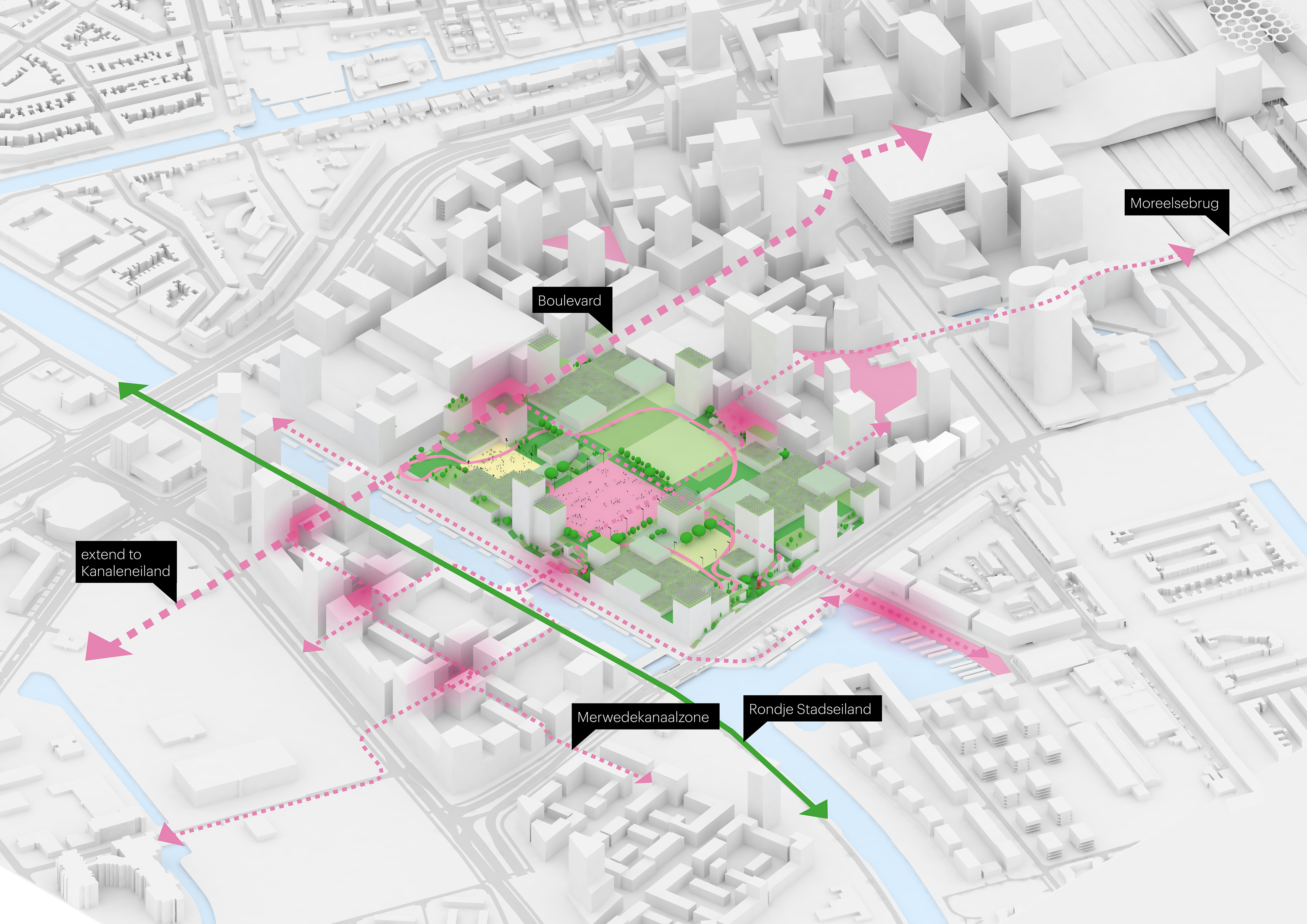 <p>Masterplan Jaarbeurs Utrecht door MVRDV. Beeld MVRDV</p>