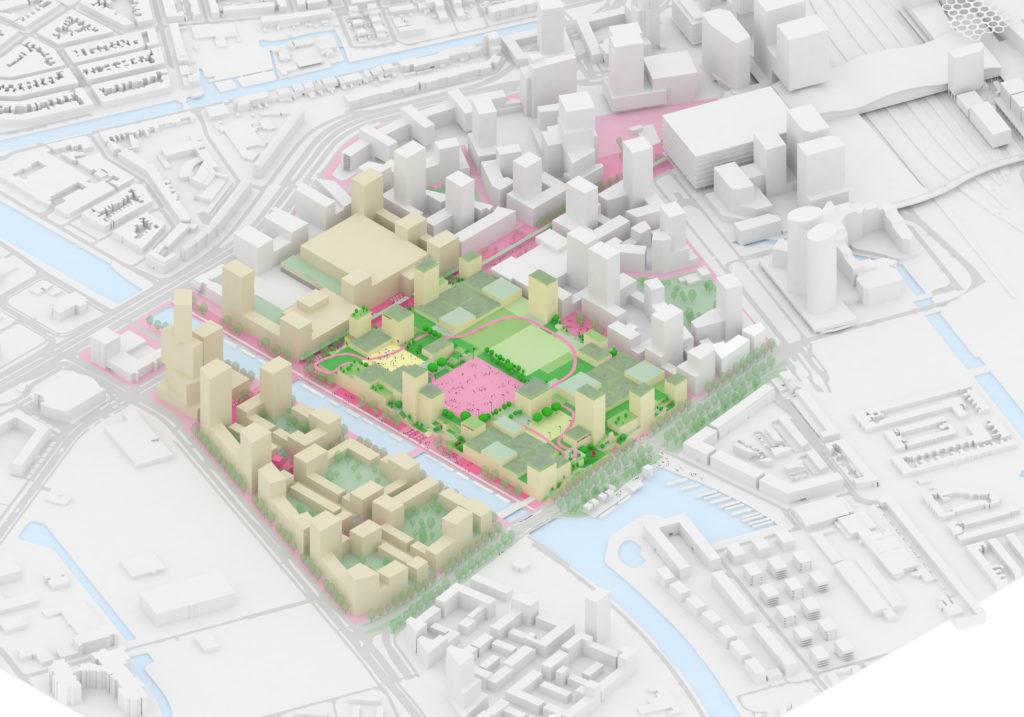 Masterplan Jaarbeurs Utrecht door MVRDV. Beeld MVRDV