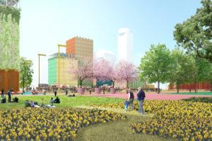 MVRDV ontwerpt duurzaam masterplan en nieuwbouw Jaarbeurs