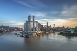 Poort naar West-China – Raffles City in Chongqing door Moshe Safdie