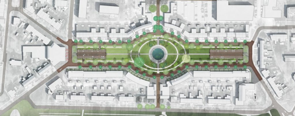 Treebeekplein IBA Parkstad Stedenbouwkundig plan van Treebeekplein in Brunssum door Ziegler Branderhorst
