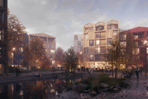 Stortplaats in Kopenhagen wordt duurzame houten woonwijk