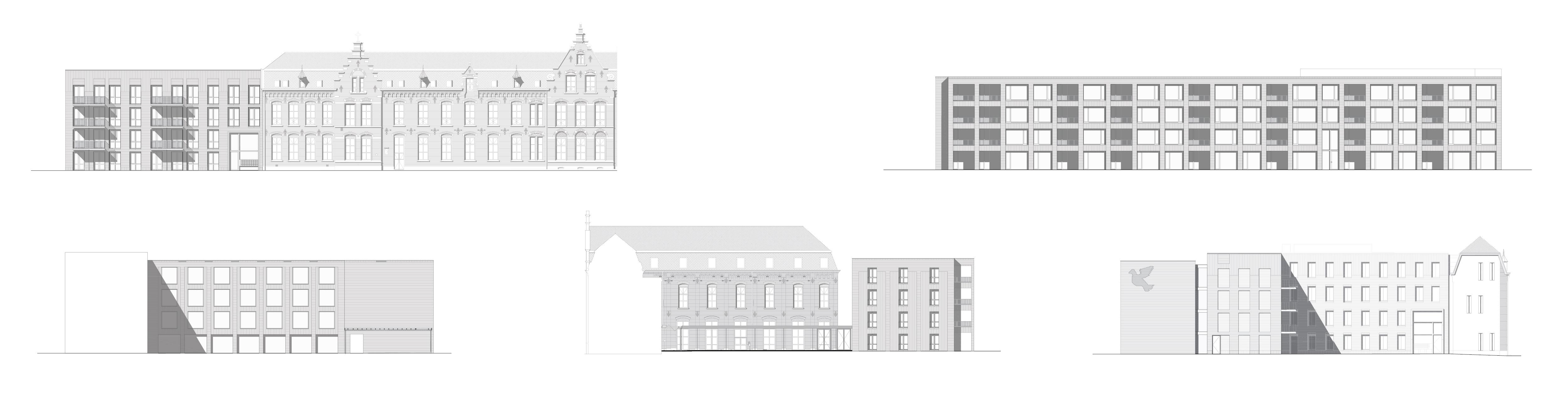 <p>Oostgevel Woongebouw 1 voor Klooster Oude Dijk te Tilburg door Shift</p>