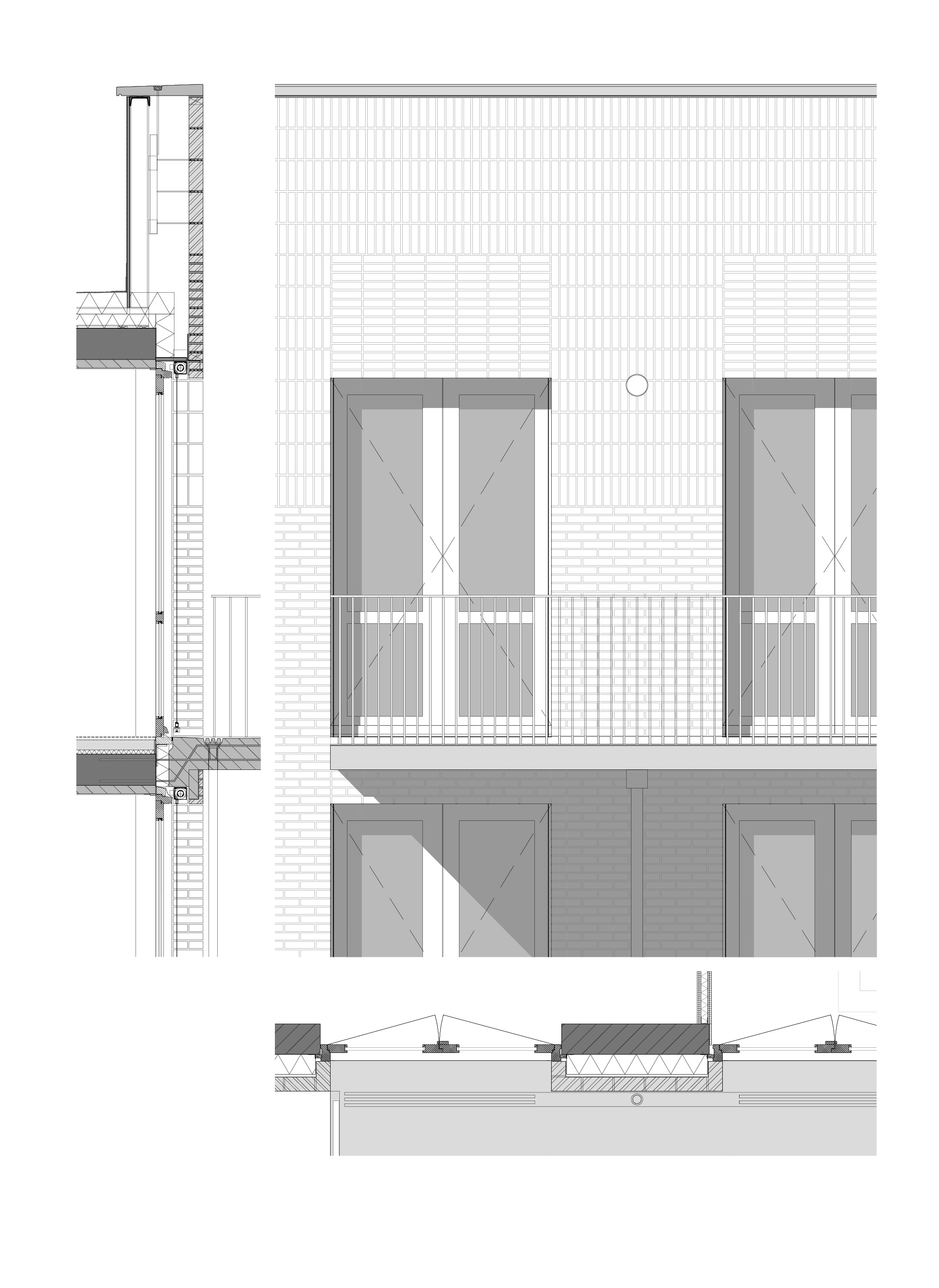<p>Fragment façade Woongebouw 1 voor Klooster Oude Dijk te Tilburg door Shift</p>